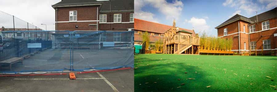Before and After Playground Design