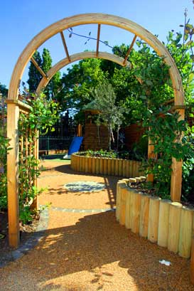 Natural Wooden Pergolas and Arches