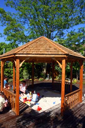 Timber Covered Sand Pit